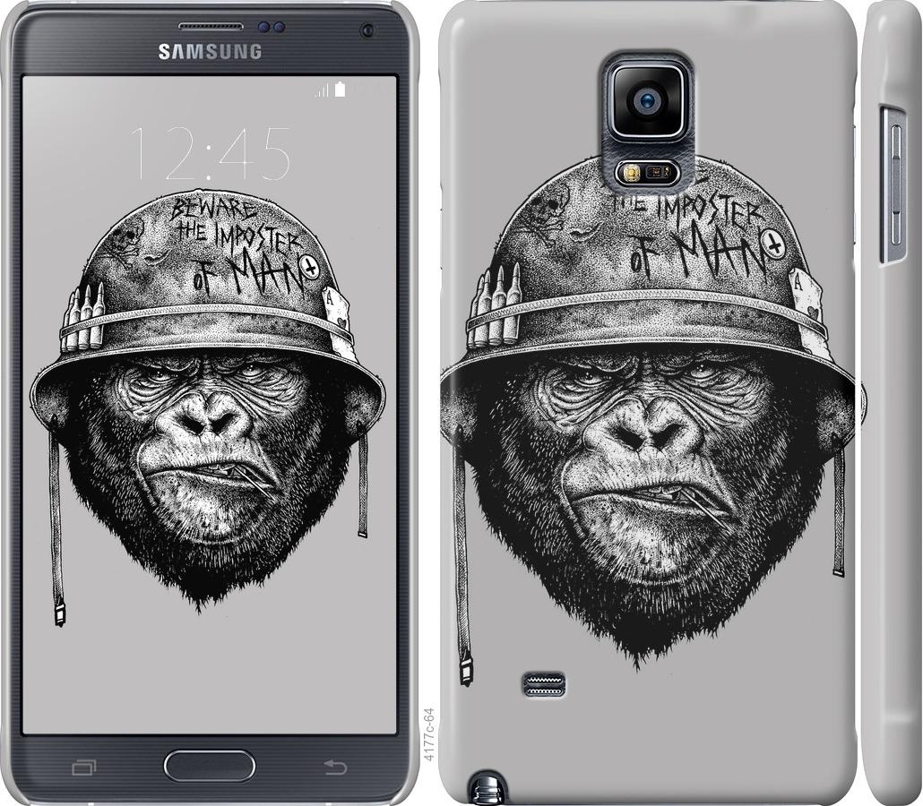 Чехол на Samsung Galaxy Note 4 N910H military monkey