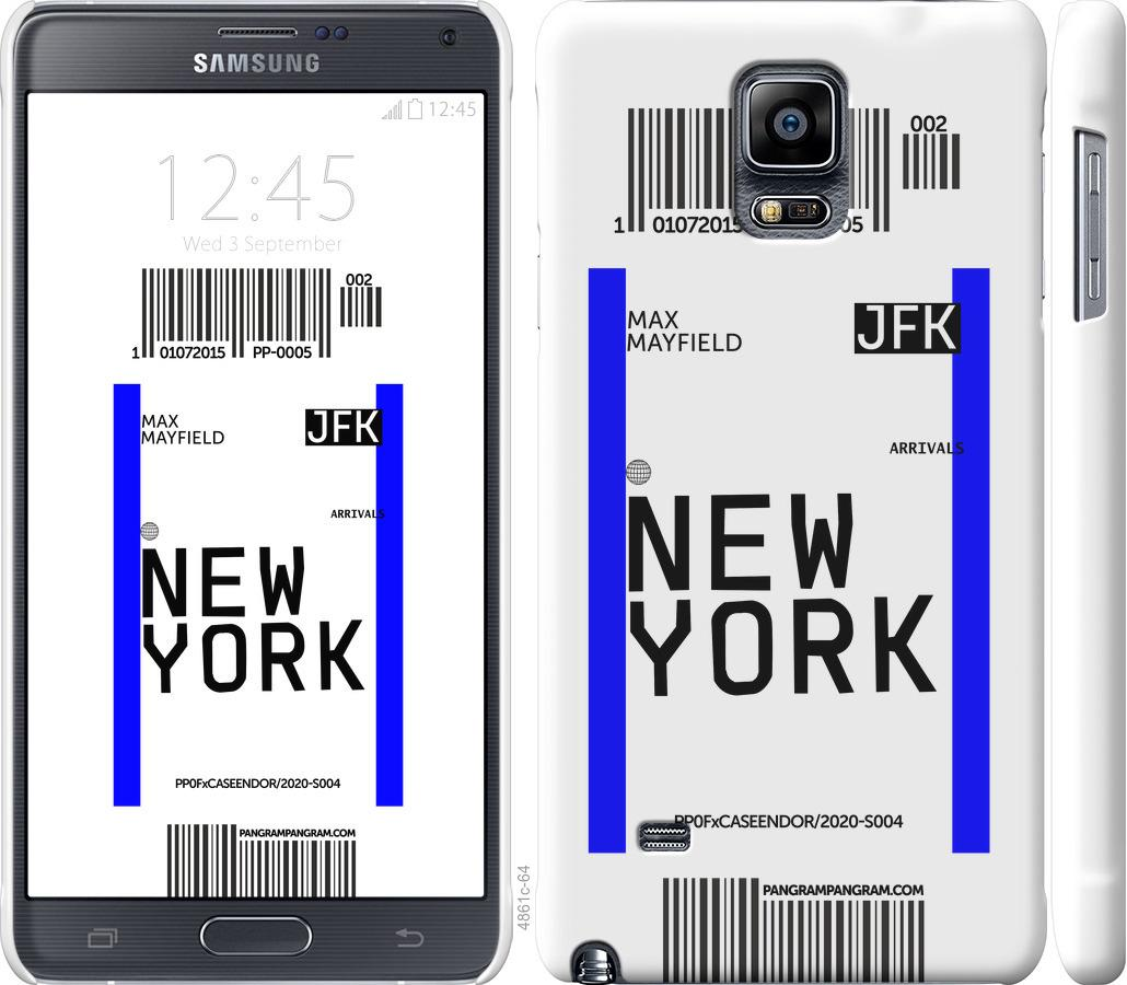 Чехол на Samsung Galaxy Note 4 N910H New York