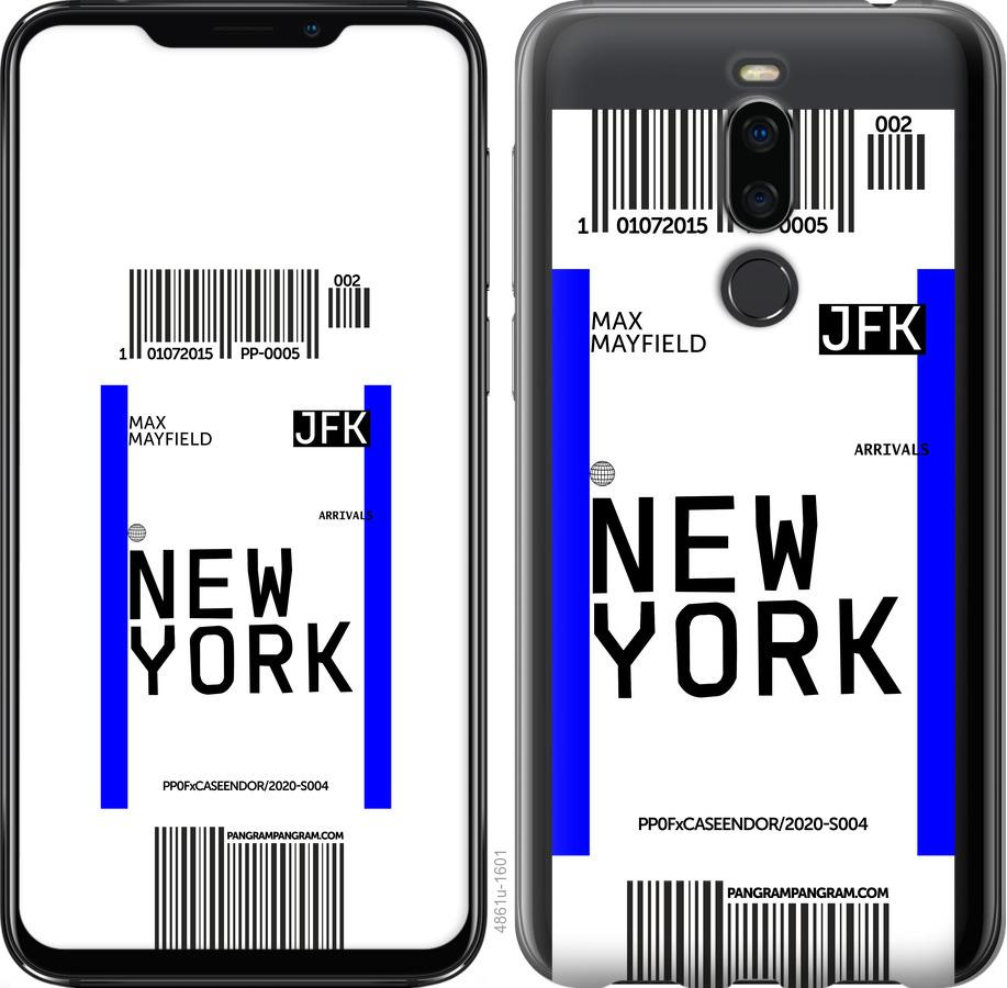 Чехол на Meizu X8 New York
