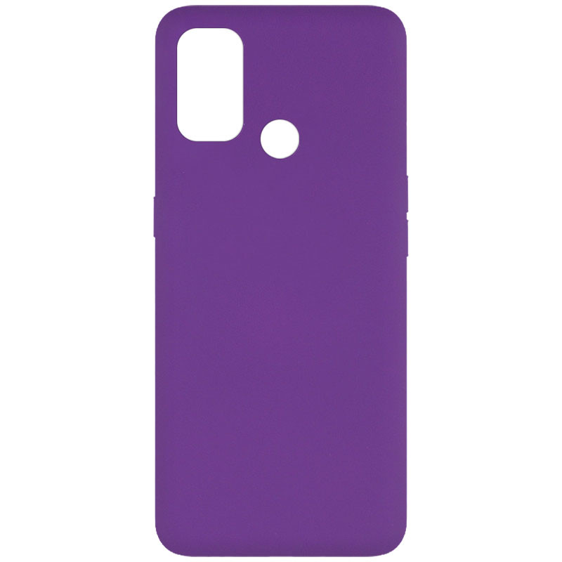 Чехол Silicone Cover Full without Logo (A) для Oppo A53 / A32 / A33 (Фиолетовый / Purple)