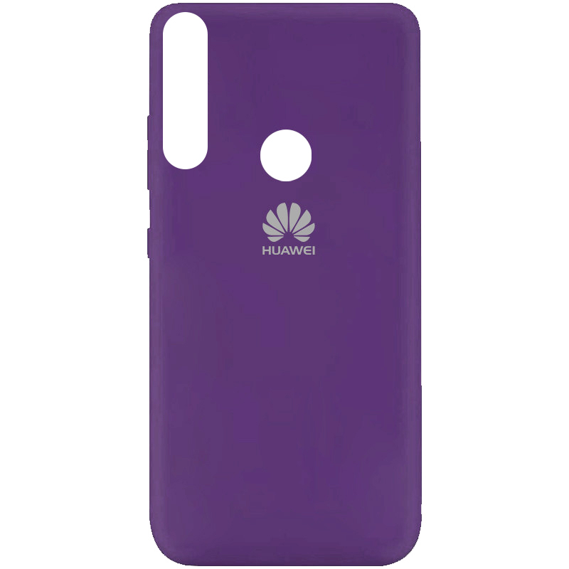 Чехол Silicone Cover My Color Full Protective (A) для Huawei Y9 Prime (2019) (Фиолетовый / Purple)