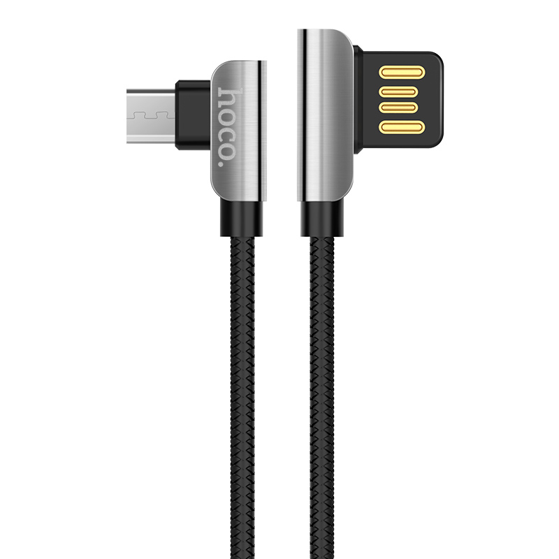 Дата кабель Hoco U42 Exquisite Steel Micro USB Cable (1.2m) (Черный)