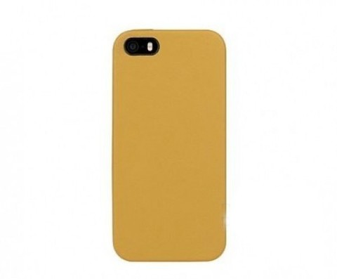 Кожаная накладка ROCK Vogue series для Apple iPhone 5/5S/SE (Охра / Earth Yellow)