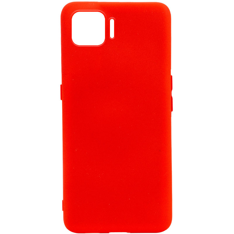 Чехол Silicone Cover Full without Logo (A) для Oppo A73 (Красный / Red)