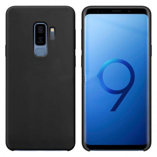 Чехол Silicone Cover without Logo (AA) для Samsung Galaxy S9+ (Черный / Black)