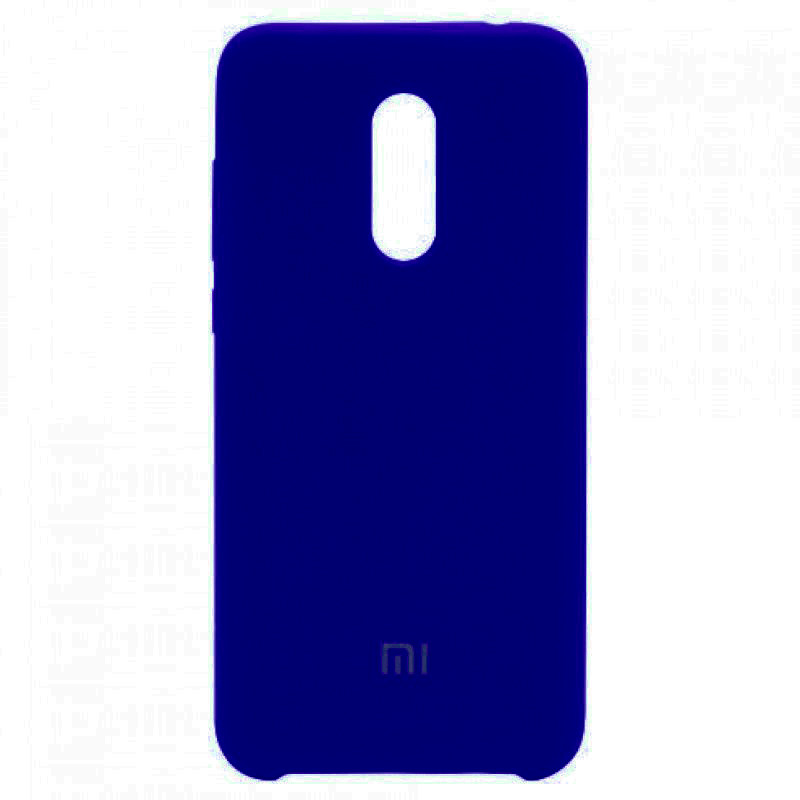 Чехол Silicone case для Xiaomi Redmi 5 Plus / Redmi Note 5 (SC) (Синий / Dark Blue)