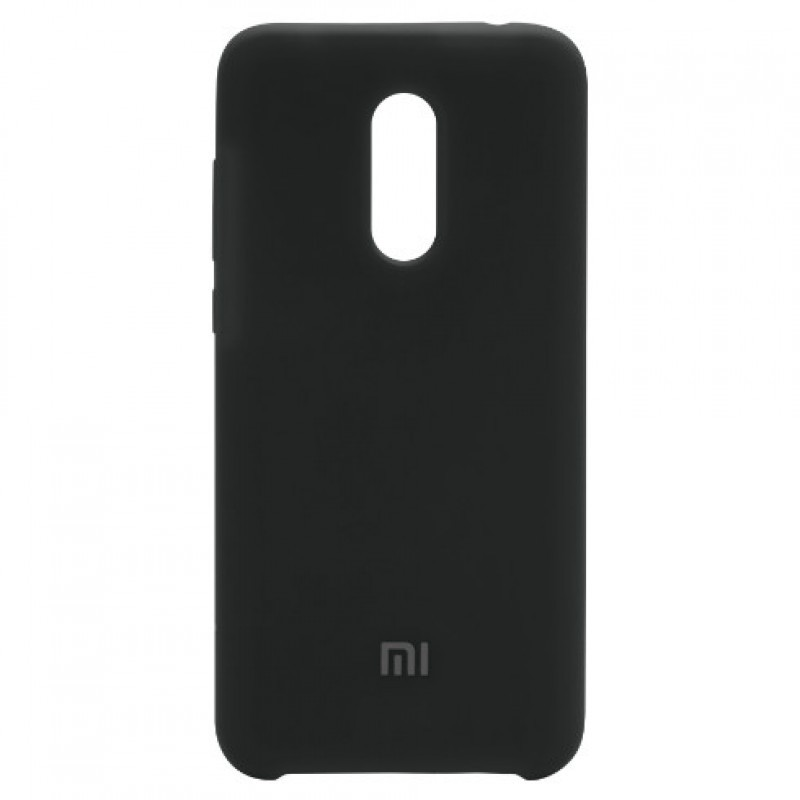 Чехол Silicone case для Xiaomi Redmi 5 Plus / Redmi Note 5 (SC) (Черный / Black)