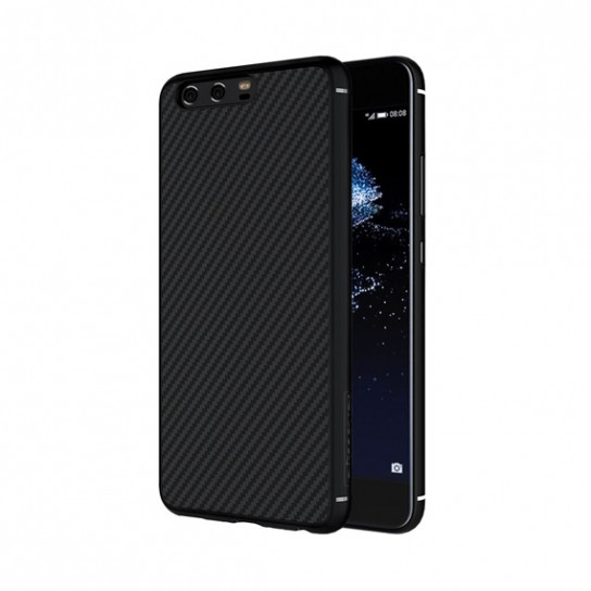 Карбоновая накладка Nillkin Synthetic Fiber series для Huawei P10 Plus (Черный)