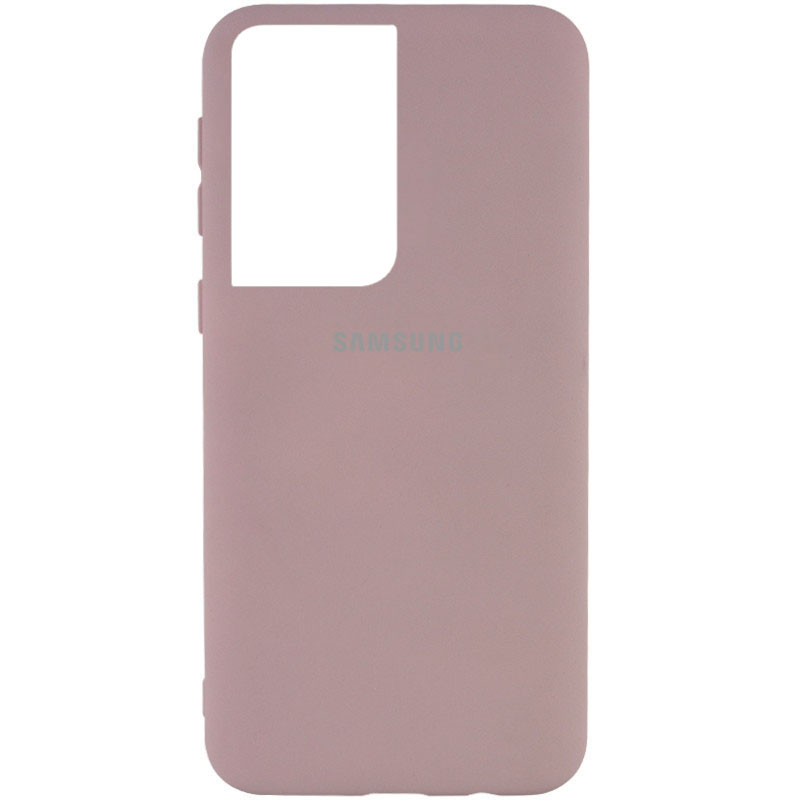 Фото Чехол Silicone Cover My Color Full Protective (A) для Samsung Galaxy S21 Ultra Розовый / Pink Sand на onecase.com.ua