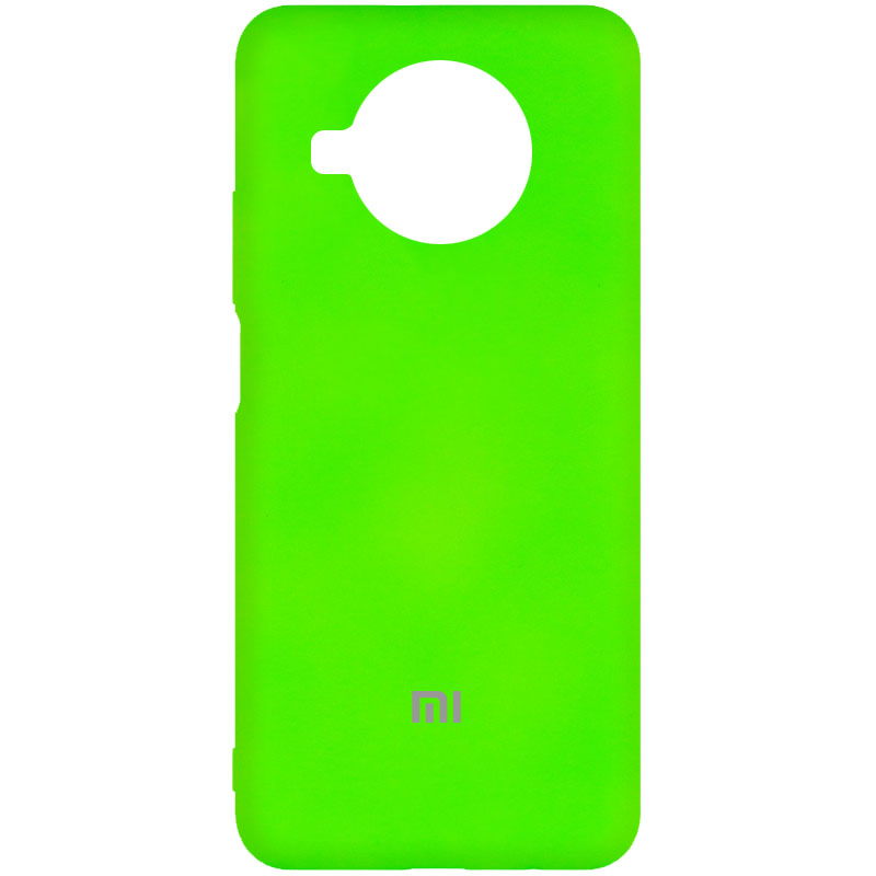 Фото Чехол Silicone Cover My Color Full Protective (A) для Xiaomi Mi 10T Lite / Redmi Note 9 Pro 5G Салатовый / Neon green на onecase.com.ua