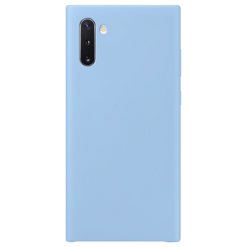 Чехол Silicone Cover without Logo (AA) для Samsung Galaxy Note 10 (Голубой / Lilac Blue)