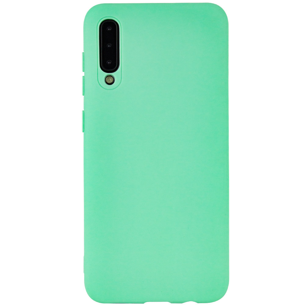 Чехол Silicone Cover with Magnetic для Samsung Galaxy A30s (Салатовый)