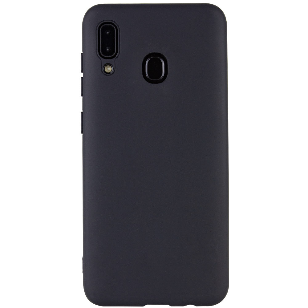 Чехол Silicone Cover with Magnetic для Samsung Galaxy A20 / A30 (Черный)
