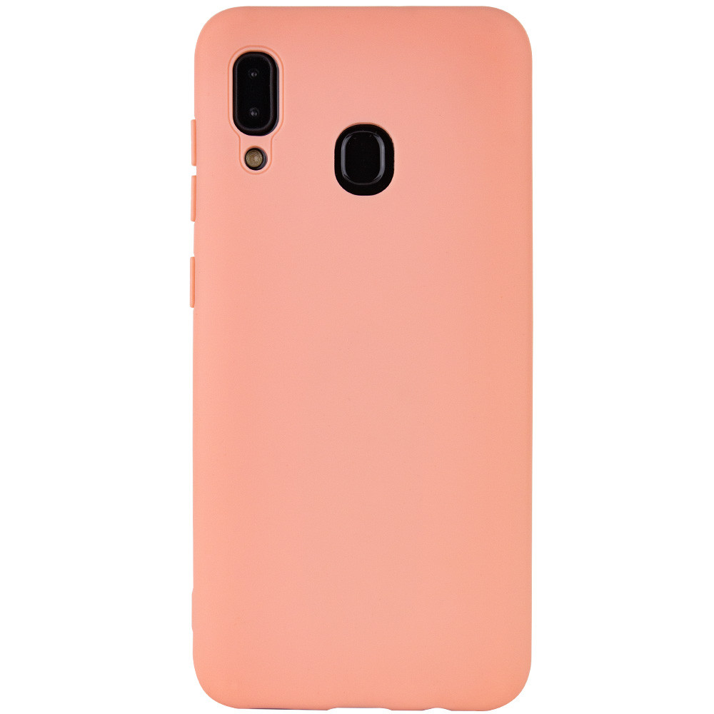 Чехол Silicone Cover with Magnetic для Samsung Galaxy A20 / A30 (Розовый)