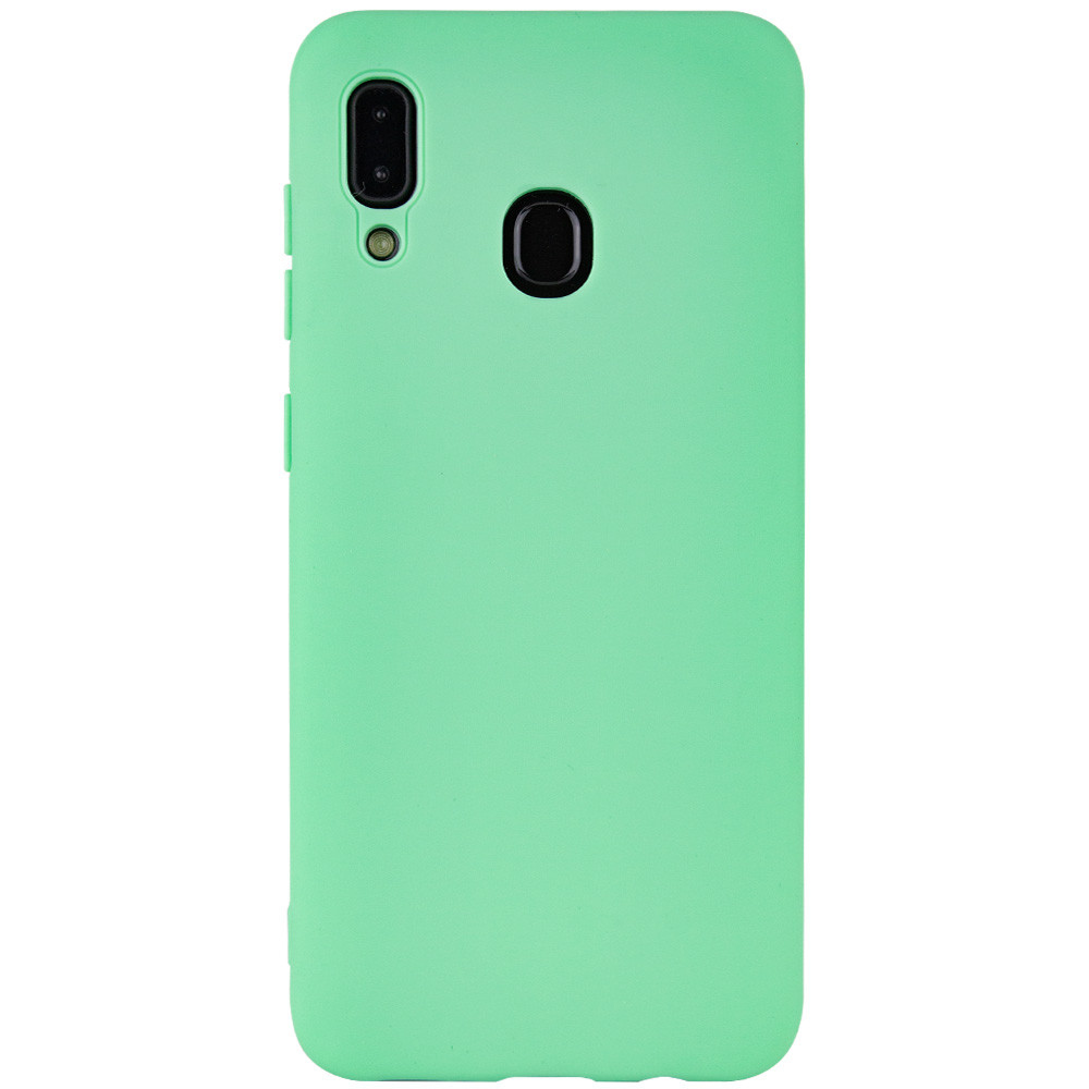 Чехол Silicone Cover with Magnetic для Samsung Galaxy A20 / A30 (Салатовый)