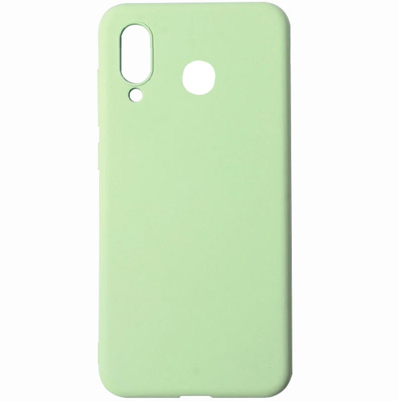 Чехол Silicone Cover with Magnetic для Huawei P Smart Z (Салатовый)