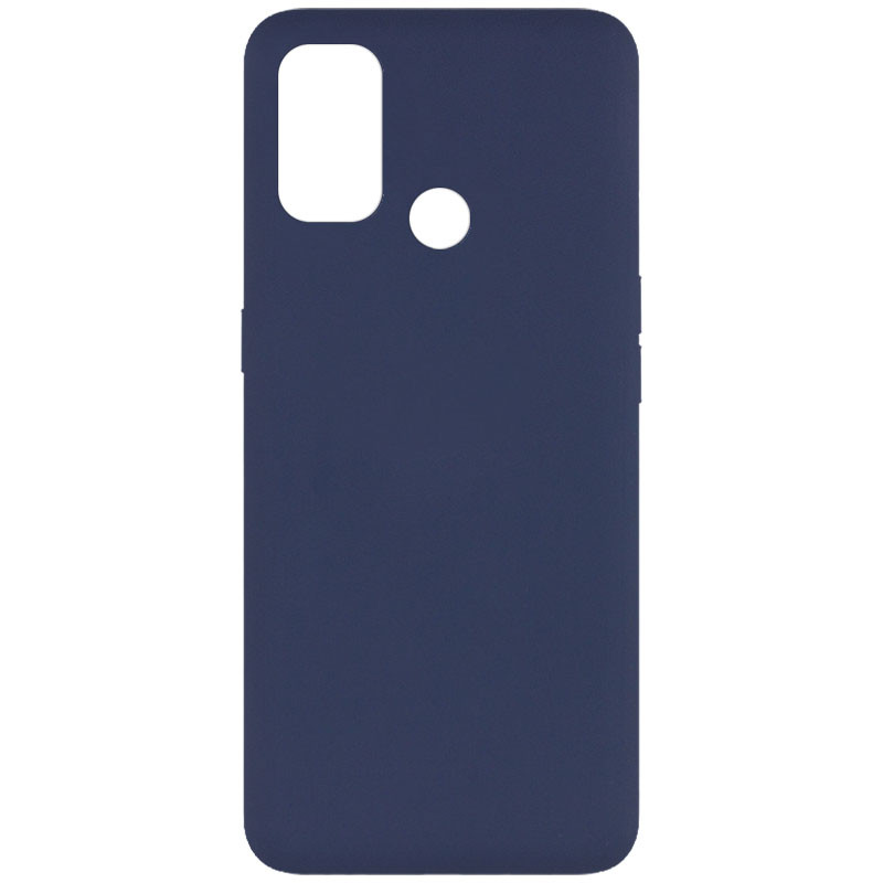 Чехол Silicone Cover Full without Logo (A) для Oppo A53 / A32 / A33 (Синий / Midnight blue)
