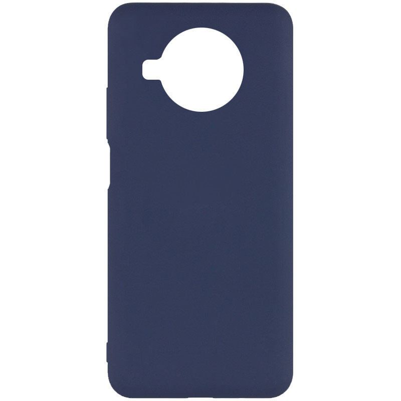 Фото Чехол Silicone Cover Full without Logo (A) для Xiaomi Mi 10T Lite / Redmi Note 9 Pro 5G Синий / Midnight blue на onecase.com.ua