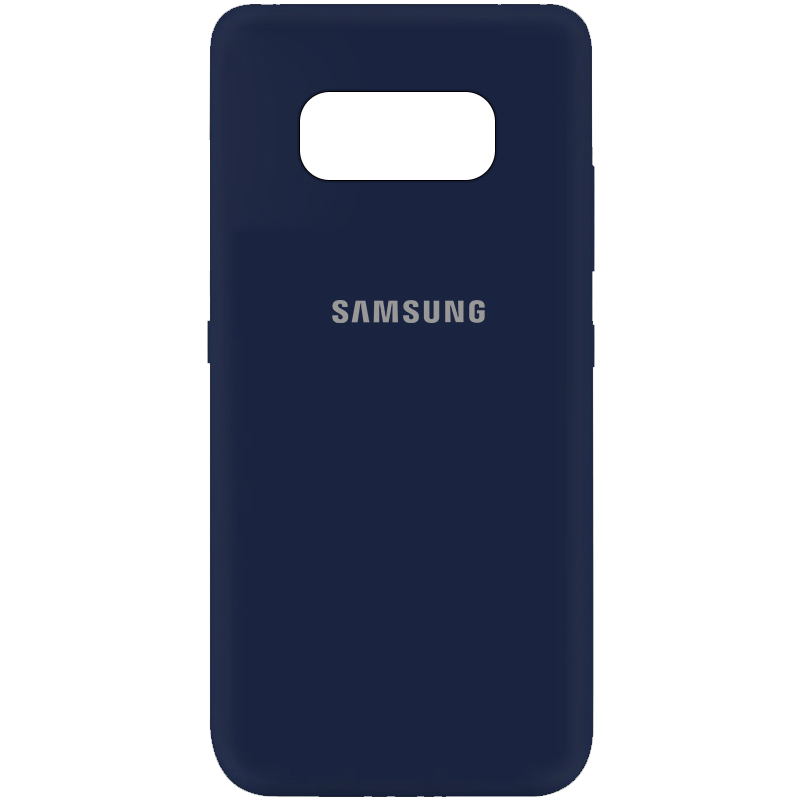 Чехол Silicone Cover My Color Full Protective (A) для Samsung G950 Galaxy S8 (Синий / Midnight blue)