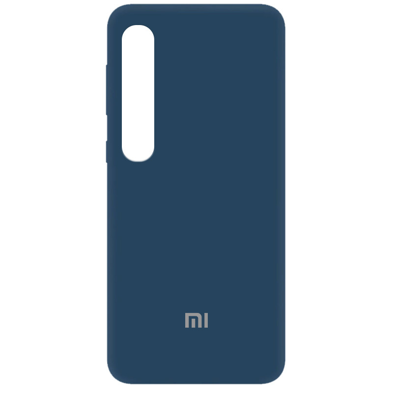 Чехол Silicone Cover My Color Full Protective (A) для Xiaomi Mi 10 / Mi 10 Pro (Синий / Navy Blue)