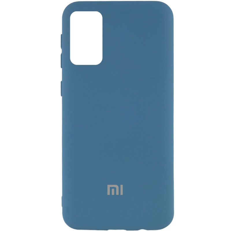 Чехол Silicone Cover My Color Full Protective (A) для Xiaomi Redmi Note 9 4G /Redmi 9 Power/Redmi 9T (Синий / Navy blue)