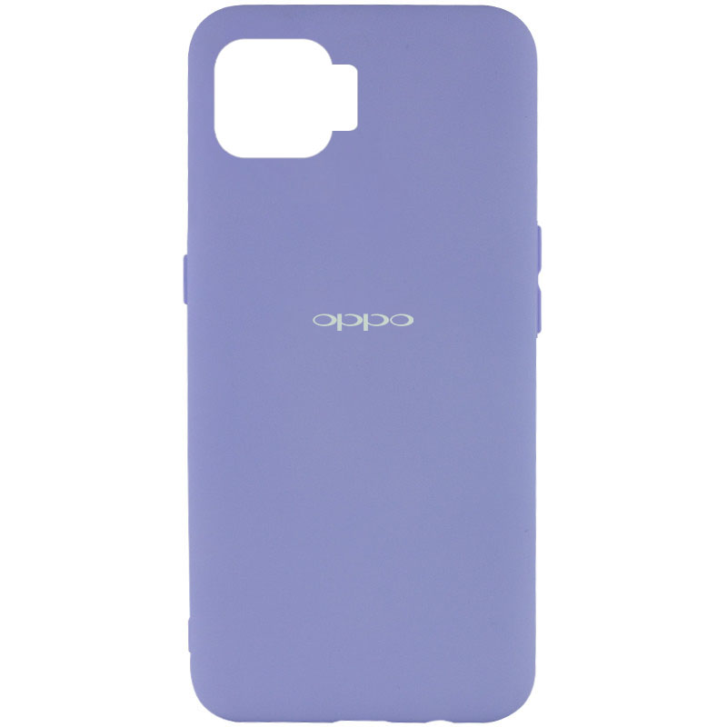 Чехол Silicone Cover My Color Full Protective (A) для Oppo A73 (Сиреневый / Dasheen)