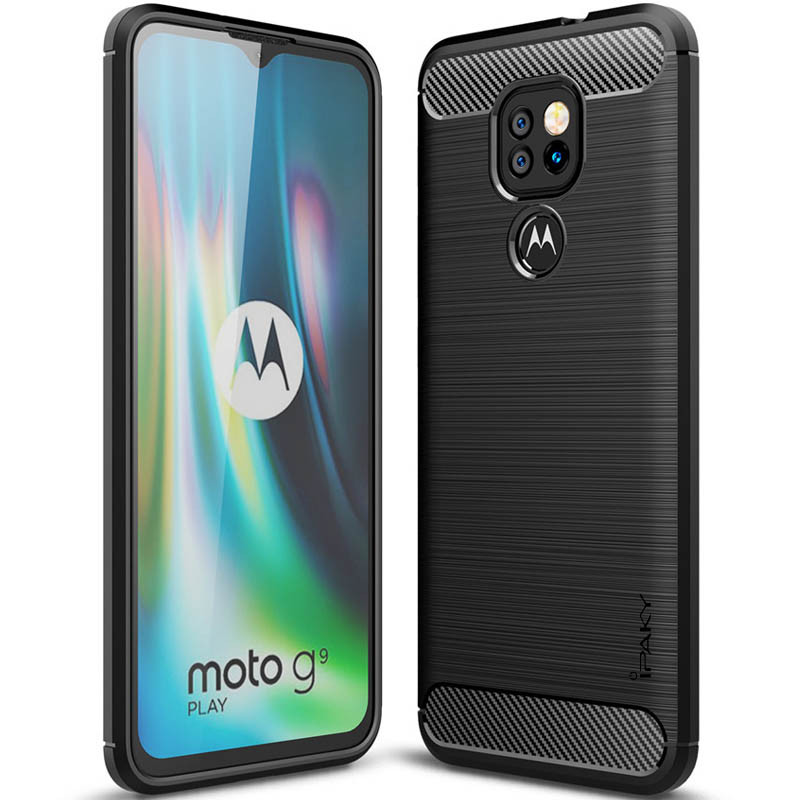 TPU чехол iPaky Slim Series для Motorola Moto G9 Play (Черный)