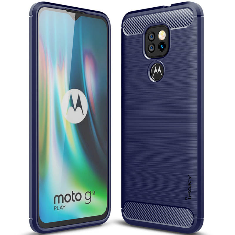 TPU чехол iPaky Slim Series для Motorola Moto G9 Play (Синий)