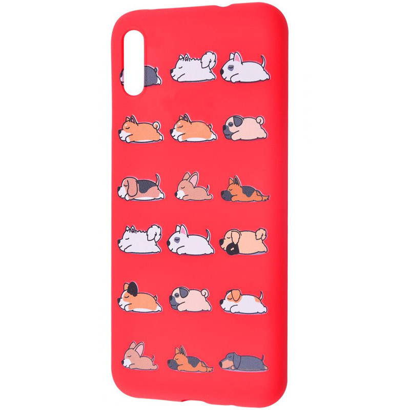 Фото TPU чехол WAVE Fancy для Xiaomi Redmi 9A Sleeping dog / Red на onecase.com.ua