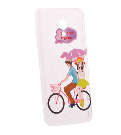 TPU чехол Cute Print для Meizu M3 / M3 mini / M3s (Pair on bike)