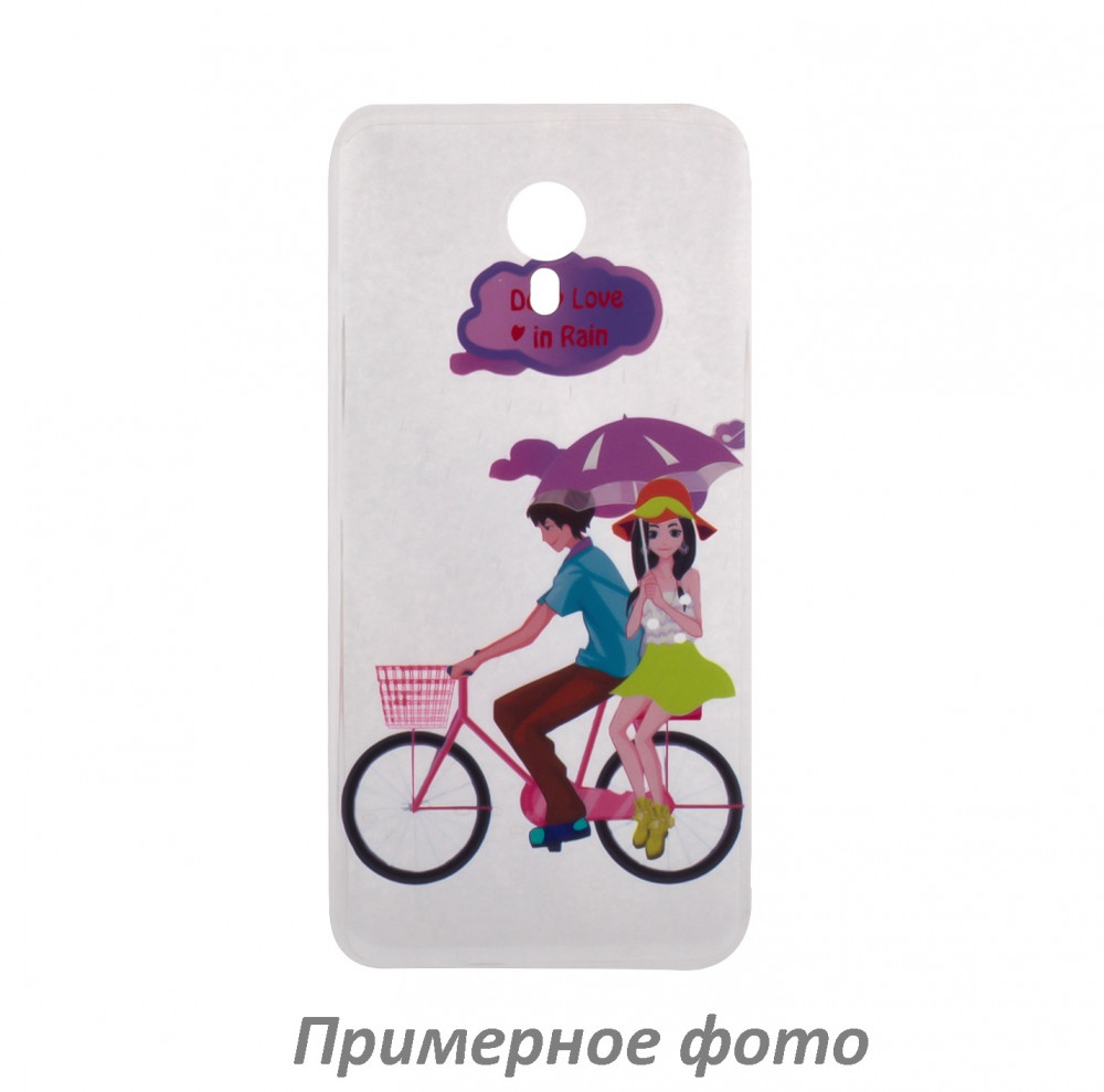 TPU чехол Cute Print для Meizu Pro 7 (Bicycle riding)