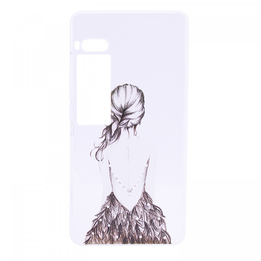 TPU чехол Cute Print для Meizu Pro 7 (Girl (dress back))
