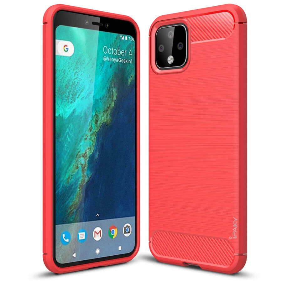 TPU чехол iPaky Slim Series для Google Pixel 4 XL (Красный)