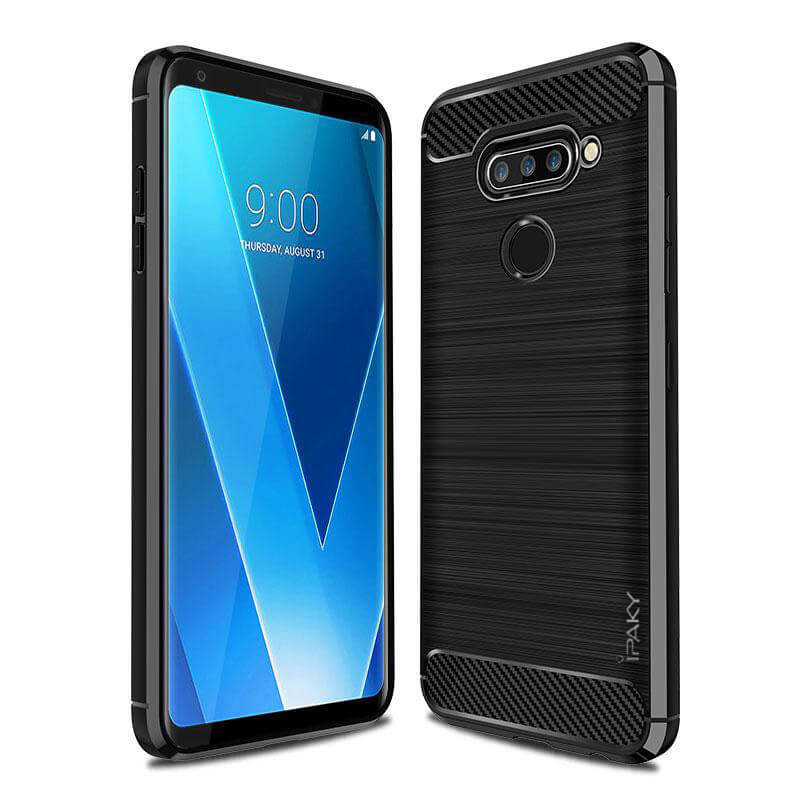 TPU чехол iPaky Slim Series для LG V40 ThinQ (Черный)