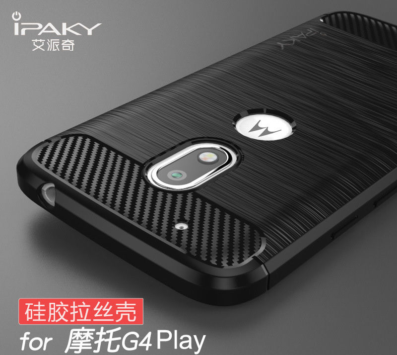 TPU чехол iPaky Slim Series для Motorola Moto G4 Play (Черный)