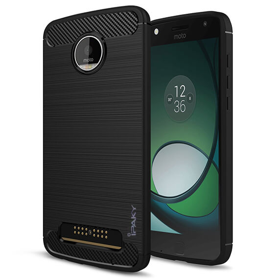 TPU чехол iPaky Slim Series для Motorola Moto Z Play (Черный)