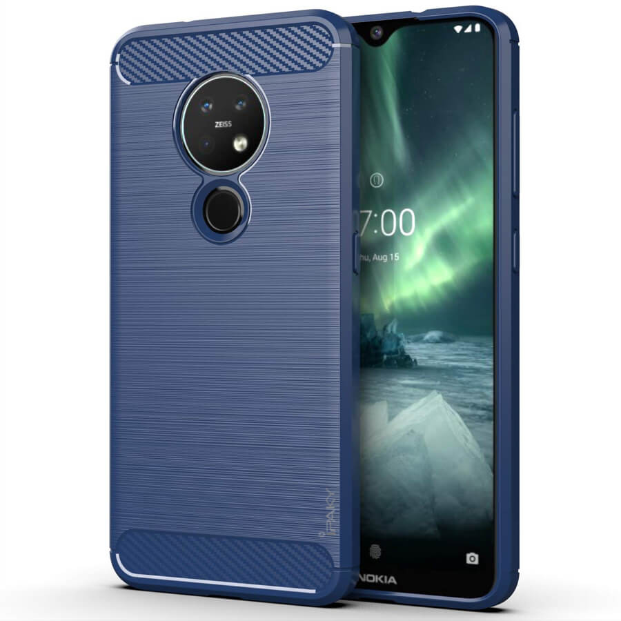 TPU чехол iPaky Slim Series для Nokia 6.2 / 7.2 (Синий)
