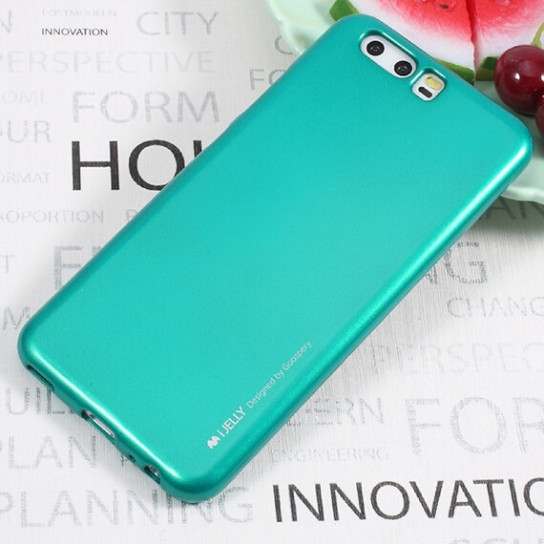 TPU чехол Mercury iJelly Metal series для Huawei P10 Plus (Синий)
