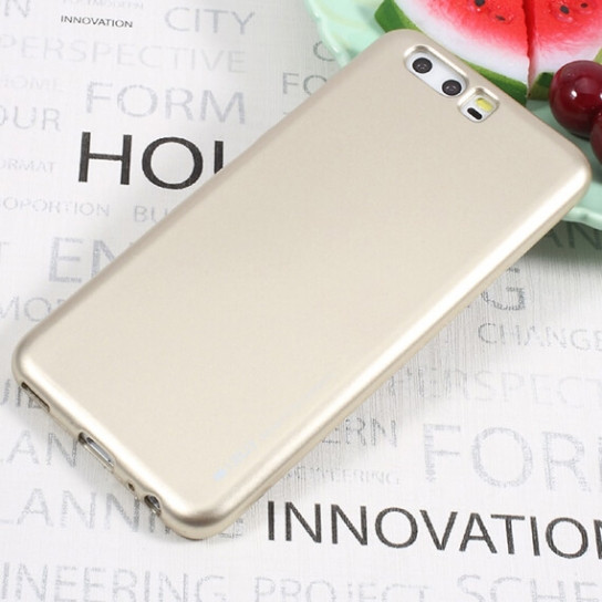 TPU чехол Mercury iJelly Metal series для Huawei P10 Plus (Золотой)