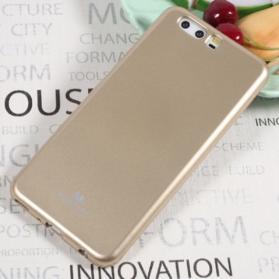 TPU чехол Mercury Jelly Color series для Huawei P10 Plus (Золотой)
