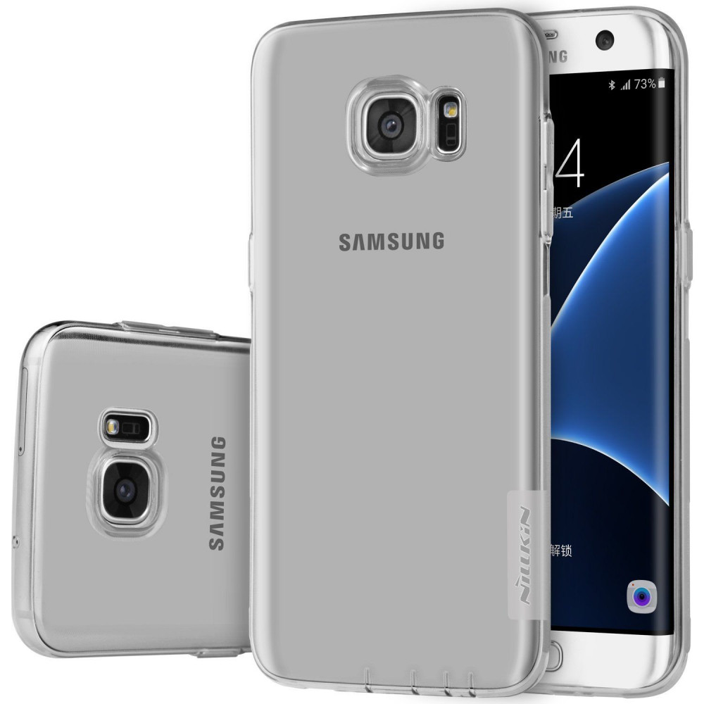TPU чехол Nillkin Nature Series для Samsung Galaxy S7 Edge (G935F) (Серый (прозрачный))