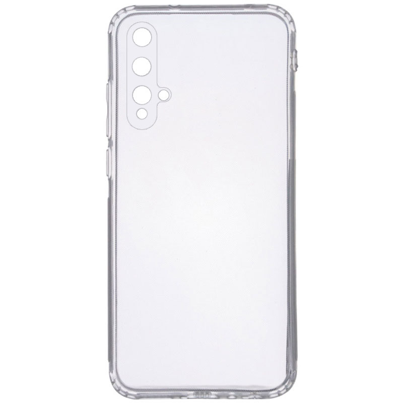 TPU чехол GETMAN Clear 1,0 mm для Huawei Nova 5T (Прозрачный)