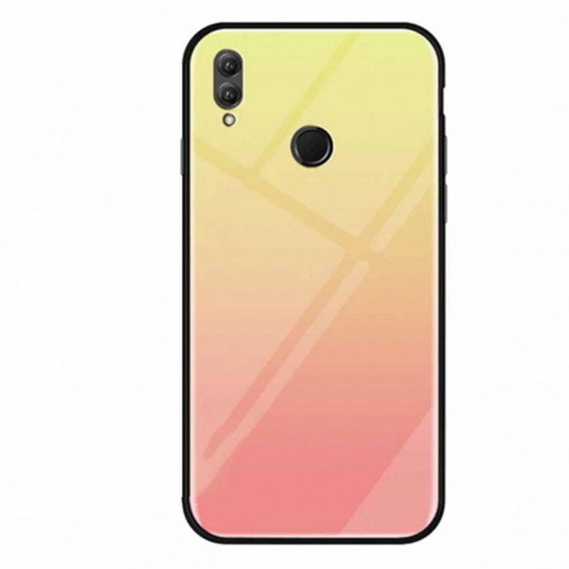 TPU+Glass чехол Gradient series для Huawei Honor Play (Розовый)