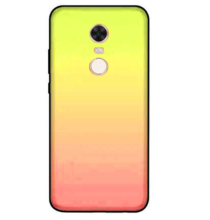 TPU+Glass чехол Gradient series для Xiaomi Redmi 5 Plus / Redmi Note 5 (SC) (Розовый)