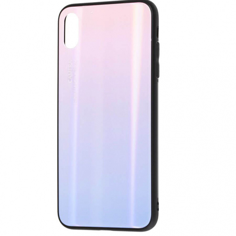 "TPU+Glass чехол Luster для Apple iPhone X (5.8"") / XS (5.8"") (Розовый)"