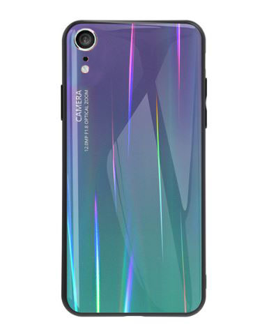 "TPU+Glass чехол Luster для Apple iPhone XR (6.1"") (Фиолетовый)"