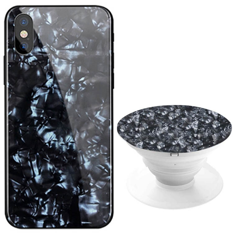 TPU+Glass чехол Shell & Popsocket (набор) для Apple iPhone XS Max (6.5
