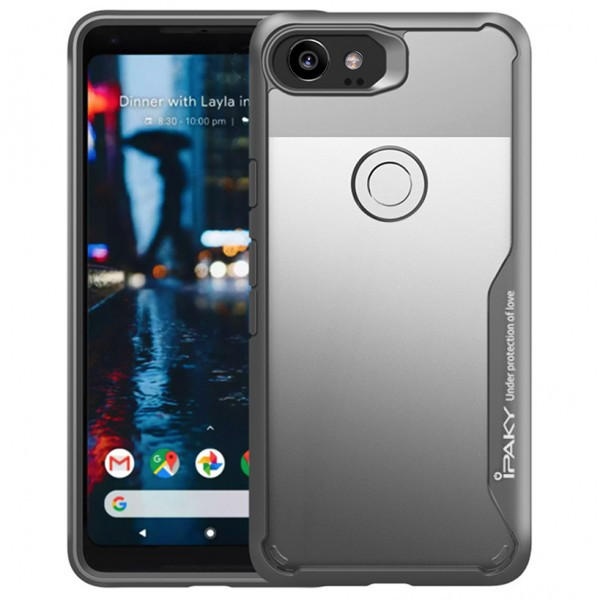 TPU+PC чехол iPaky Luckcool Series для Google Pixel 2 XL (Серый)