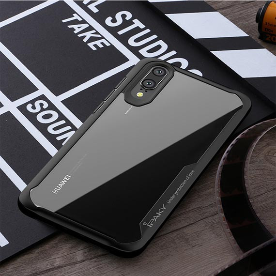 TPU+PC чехол iPaky Luckcool Series для Huawei P20 (Черный)
