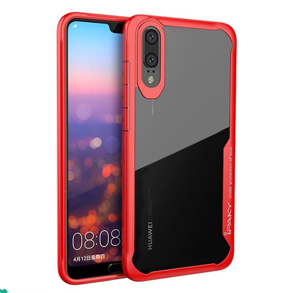 TPU+PC чехол iPaky Luckcool Series для Huawei P20 (Красный)